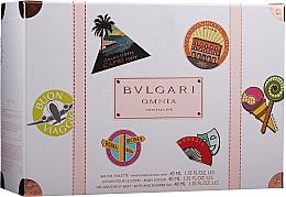 Parfums et Produits cosmétiques Bvlgari Omnia Crystalline - Coffret (eau de toilette/40ml + lotion corps/ 40ml + gel douche/40ml)