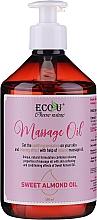 Parfums et Produits cosmétiques Huile de massage à l'huile d'amande douce - Eco U Massage Oil Sweet Almond Oil