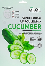 Parfums et Produits cosmétiques Masque tissu à l'extrait de concombre pour visage - Ekel Super Natural Ampoule Mask Cucumber