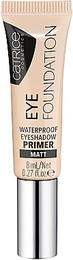 Base de fard à paupières mate waterproof - Catrice Eye Foundation Waterproof Eyeshadow Primer