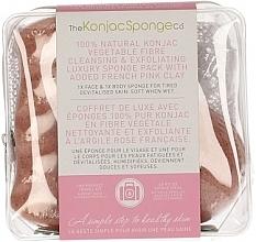 Parfums et Produits cosmétiques Éponges nettoyantes à l'argile rose pour visage et corps - The Konjac Sponge Company Travel/Gift Sponge Bag Duo Pack French Pink Clay