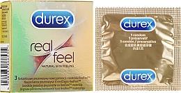 Parfums et Produits cosmétiques Préservatifs, 3 pcs - Durex Real Feel