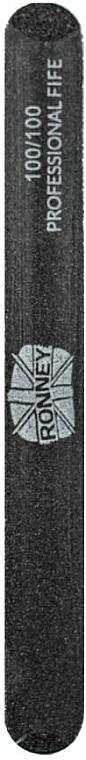 Lime à ongles, 100/100, noir, droite - Ronney Professional
