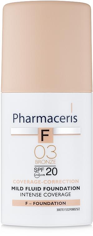 Fluide délicat à couvrance intensive SPF 20 - Pharmaceris F Intense Coverage Mild Fluid Foundation SPF20