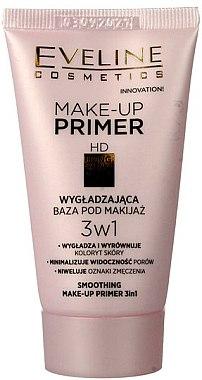 Base de maquillage lissante 3 en 1 - Eveline Cosmetics Smoothing Make-up Primer 3v1