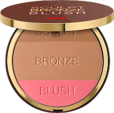 Parfums et Produits cosmétiques Poudre bronzante 3 en 1 pour visage - Pupa Sculpt Bronze Blush