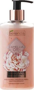 Élixir éclaircissant luxueux à l'huile de camélia, perle naturelle et acide hyaluronique pour corps - Bielenda Camellia Oil Luxurious Body Elixir