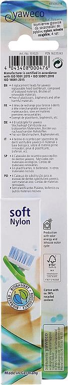 Têtes de remplacement pour brosse à dents, souples - Yaweco Toothbrush Heads Nylon Soft — Photo N3