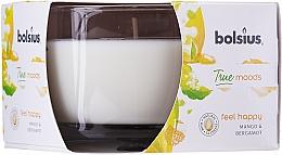 Parfums et Produits cosmétiques Bougie parfumée en verre, Mangue et Bergamote, 63/90 mm - Bolsius True Moods Candle