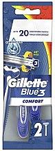 Parfums et Produits cosmétiques Lot de 2 rasoirs jetables pour homme - Gillette Blue 3 Comfort