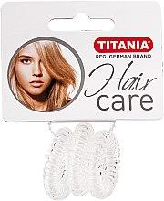 Parfums et Produits cosmétiques Élastiques à cheveux, Anti Ziep, 3 pcs, transparent - Titania