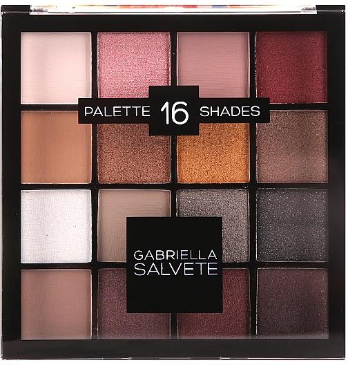 Palette fards à paupières, 16 nuances - Gabriella Salvete Palette 16 Shades II