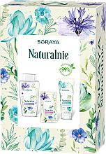 Parfums et Produits cosmétiques Soraya Naturally - Set visage (eau micellaire/400ml + gel lavant/150ml + masque/17ml)