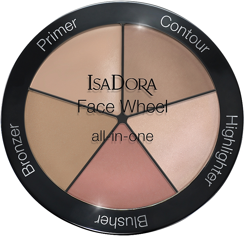 Palette de maquillage pour visage - IsaDora Face Wheel All-In-One — Photo N1