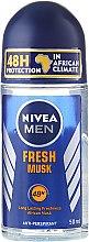 Parfums et Produits cosmétiques Anti-transpirant roll-on pour homme Fraîcheur de musc - Nivea For Men Fresh Musk Roll On