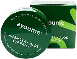 Parfums et Produits cosmétiques Patchs au thé vert et aloe vera contour des yeux - Ayoume Green Tea + Aloe Eye Patch