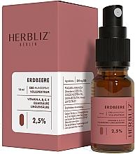 Parfums et Produits cosmétiques Spray buccal à l'huile de fraise - Herbliz CBD Oil Mouth Spray 2,5%