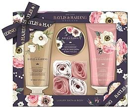 Parfums et Produits cosmétiques Coffret cadeau - Baylis & Harding Royale Garden (sh/cr/200ml + b/lot/200ml + b/butter/50ml + soap/6g)