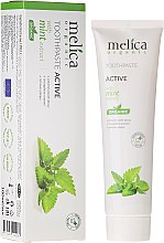 Parfums et Produits cosmétiques Dentifrice actif à l'extrait de menthe - Melica Organic
