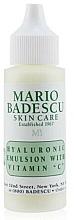Parfums et Produits cosmétiques Émulsion à la vitamine C pour visage - Mario Badescu Hyaluronic Emulsion With Vitamin C