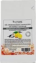 Parfums et Produits cosmétiques Sel de bain rose de l'Himalaya, Vanille et Citron - E-fiore Himalayan Salt With Oils Sensual Vanilla With Lemon