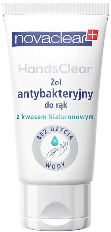 Gel antibactérien à l'acide hyaluronique pour mains (tube) - Novaclear Hands Clear