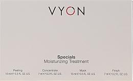 Parfums et Produits cosmétiques Vyon Specials Moisturizing Treatment - Set pour visage (peeling/10ml + concentré/7ml + masque/15ml + crème/7ml)