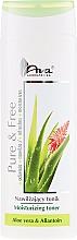 Parfums et Produits cosmétiques Tonique au jus d'aloe vera et allantoïne pour visage - AVA Laboratorium Pure & Free Moisturizing Toner