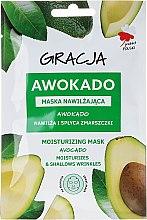 Parfums et Produits cosmétiques Masque en tissu hydratant pour visage, Avocat - Gracja Moisturizing Mask