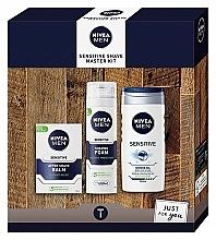 Parfums et Produits cosmétiques Coffret cadeau - Nivea Sensetive Shave Master (sh/foam/200ml + sh/gel/250ml + a/sh/balm/100ml)