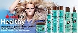 Spray thermoprotecteur au soja et coco - SexyHair HealthySexyHair Soya Want Flat Hair Hot Iron Spray — Photo N2