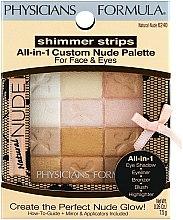 Parfums et Produits cosmétiques Palette de maquillage visage et yeux - Physicians Formula Shimmer Strips All-In-1 Custom Nude Palette For Face & Eyes