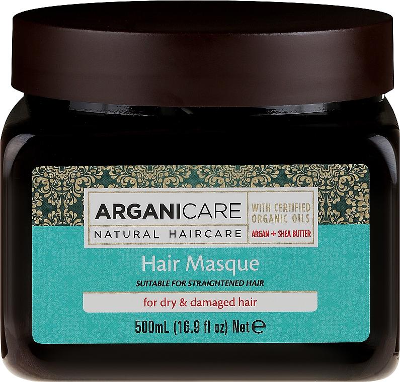 Masque à l'huile d'argan et beurre de karité bio pour cheveux - Arganicare Shea Butter Hair Masque for Dry Damaged Hair — Photo N1