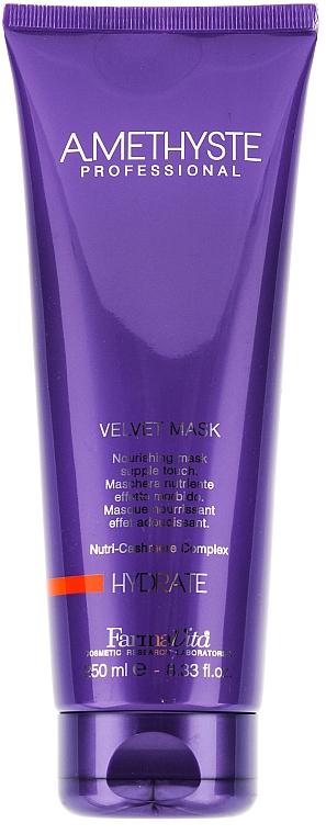 Masque au protéine de cachemire pour cheveux - Farmavita Amethyste Hydrate Velvet Mask — Photo N1