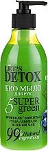 Parfums et Produits cosmétiques Savon liquide bio à l'huile d'avocat pour mains - Let's Detox 5 Super Green Soap