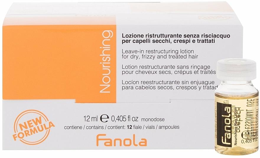 Ampoules régénérantes à l'huile de lin pour cheveux - Fanola Leave-In Restructuring Lotion