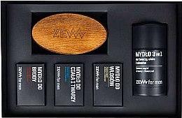 Parfums et Produits cosmétiques Zew The Bearded Man's Holiday Set - Set (savons/4x85ml + brosse)