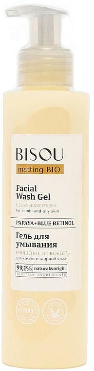 Gel nettoyant à la papaye pour visage - Bisou Matting Bio Facial Wash Gel