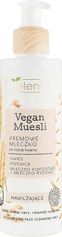 Bielenda Vegan Muesli Moisturizing Face Cleaning Milk - Lait lavant crémeux à l'extrait d'avoine pour visage