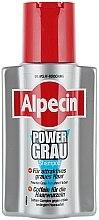 Shampooing violet anti-jaunissement - Alpecin Power Grau Shampoo  — Photo N1