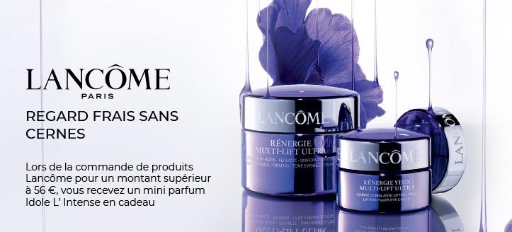Lors de la commande de produits Lancôme pour un montant supérieur à 56 €, vous recevez un mini parfum Idole L' Intense en cadeau