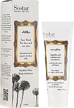Parfums et Produits cosmétiques Mousse nettoyante au lait d'ânesse pour visage - Sostar Face Wash with Donkey Milk