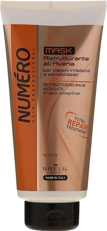 Masque à l'extrait d'avoine pour cheveux - Brelil Numero Total Repair Mask