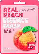 Parfums et Produits cosmétiques Masque tissu à l'extrait de pêche pour visage - FarmStay Real Peach Essence Mask