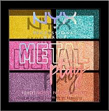 Parfums et Produits cosmétiques Palette de pigments pour visage, eyux et corps - NYX Professional Makeup Metal Play Pressed Pigment Palette
