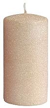 Parfums et Produits cosmétiques Bougie décorative, rose-or, 7x14 cm - Artman Glamour