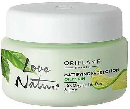 Crème matifiante à l'arbre à thé et citron vert pour visage - Oriflame Love Nature Mattifyng Face Lotion