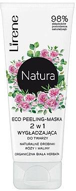 Masque exfoliant visage à l'extrait de rose, thé blanc bio et framboises - Lirene Natura Eco Peeling-Mask