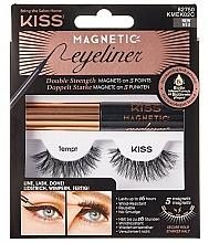 Parfums et Produits cosmétiques Faux cils magnétiques - Kiss Magnetic Eyeliner & Lash Kit KMEK02 Tempt
