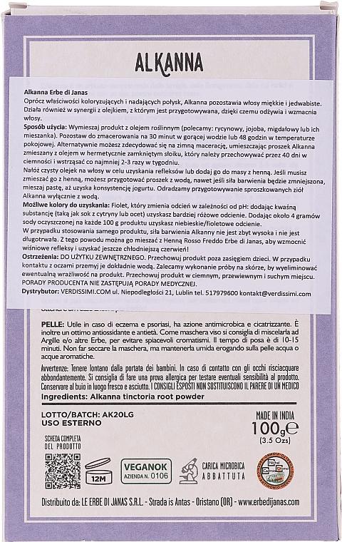 Poudre naturelle pour cheveux, Orcanette des teinturiers - Le Erbe di Janas Alkanna — Photo N2
